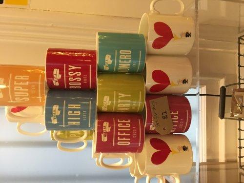 Behind the red door - £1 mugs various designs (nottingham)