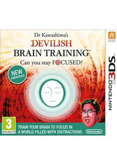 Dr Kawashima's Devilish Brain Training 3DS £17.99 Pre-order @ Base