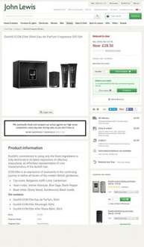 Dunhill ICON Elite 50ml Eau de Parfum Fragrance Gift Set £28.50 - £2 c&c John Lewis
