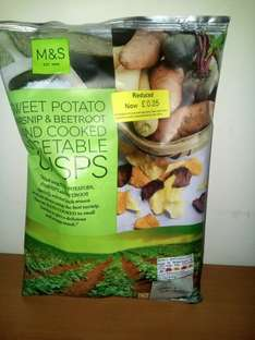 M&S Sweet Potato, Parsnip and Beetroot Hand Cooked Vegetable Crisps - Marks & Spencer - 100 g 25p