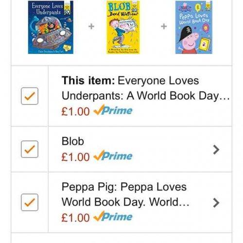 world book day books £1 prime / £3.99 non prime each @ Amazon