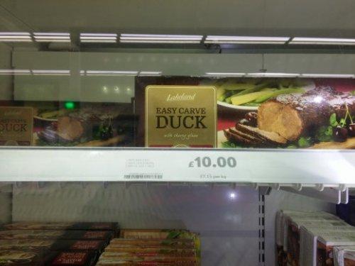 easy carve duck found instore at Tesco for £2.50 (Aldershot)