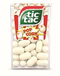 Peppermint & Popcorn Tic Tacs (18g) 5p @ Heron Foods