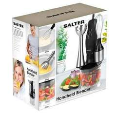 Half Price Salter Black Hand Held Blender Set £11.80 @ Waitrose Kitchen
