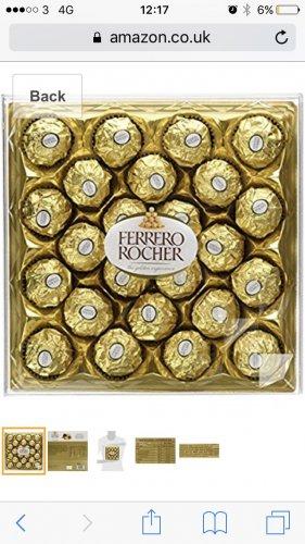 3x 24 pack boxes of ferrero Rocher @ amazon - £13.99 (Prime) £18.74 (Non Prime)