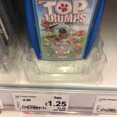 Paw Patrol Top Trumps HALF PRICE £1.25 Asda Runcorn