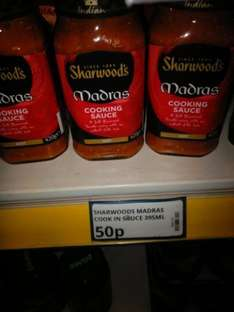Sharwoods Madras Cooking Sauce 50p @ Poundstretcher