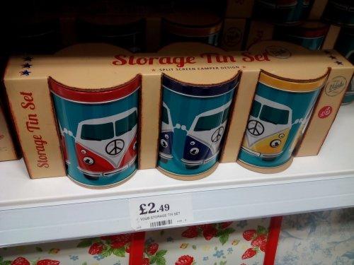 V Dubs set of 3 metal Storage Tins - £2.49 @ Home Bargains