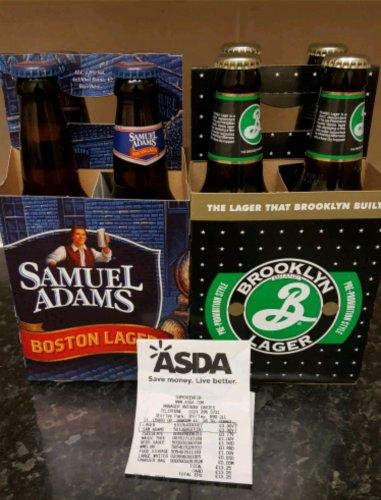 Samuel Adams and Brooklyn Lager x4 330ml Asda (Instore) - £3.90