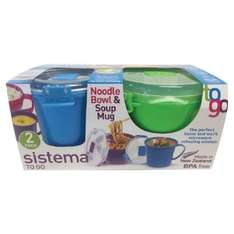 Sistema Noodle Bowl & Soup Mug (2 in a pack) - £4.25 instore @ Tesco
