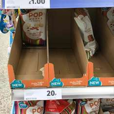 sticky toffee pudding pop corn 20p at tesco instore