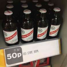 Red Stripe Lager 300ml only 50p at One Stop