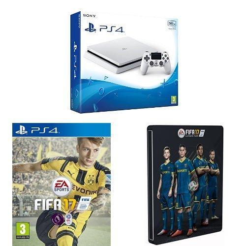 Sony PlayStation 4 500GB White + FIFA 17 + Steelbook - Amazon - £249.99
