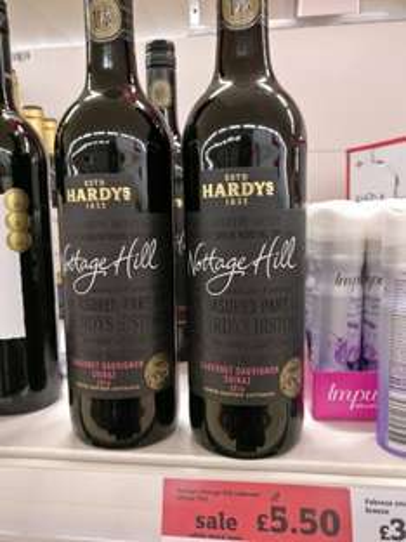 Hardy's Nottage Hill Cabernet Sauvignon Shiraz 2016 £3.30 instore @ Sainsbury's
