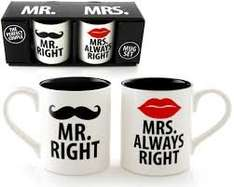Mr Right and Mrs Always Right Mugs £1 @ ASda instore