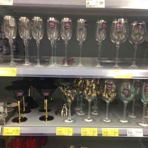 Asda Wine, Champagne and Martini Glasses - £1.75