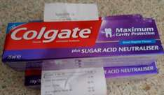Colgate Maximum Cavity Protection Toothpaste 75ml 3 for £1.00 in Poundstretcher instore Telford