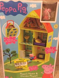 Peppa Pig Peppa's House & Garden Playset Was £18.99 Now £4.75 @ Tesco instore