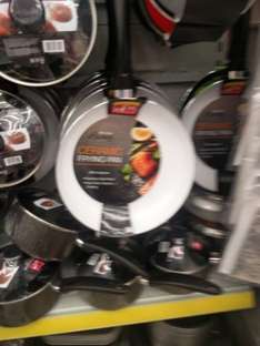 28cm Ceramic frying pan with induction steel base instore @ Poundstretcher £4.99
