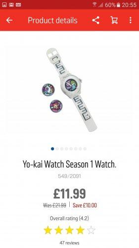 Yo-kai watch £11.99 @ Argos