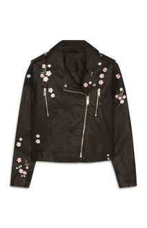 Embroidered (faux) leather jacket was £25.00 NOW just £10.00 @ Primark