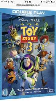 Music magpie Toy story 3 double play disc blu ray & dvd