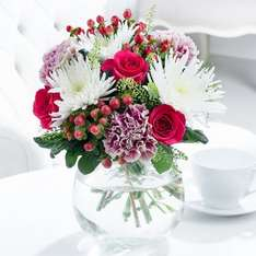 Allure flower bouquet was £29.99 now £18.48 with code delivered on Valentines Day - order before 7pm @ Blossoming Gifts