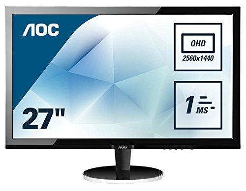 AOC 27 inch 1 ms Response Time 1440p LED Monitor £209.98 (Amazon)