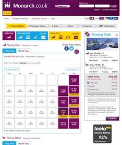 Manchester - Geneva return for £41 Monarch Airlines
