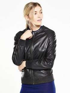 V by Very Premium Leather Bomber Jacket was £120 now £36 - free c&c