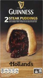 Holland's Guinness Steak Puddings (2 x173g) Frozen was £2.50 now £1.50 (Rollback Deal) @ Asda