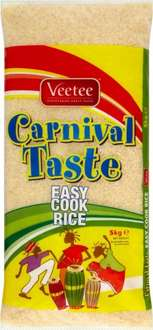 Veetee Easy Cook Long Grain Rice Carnival Taste (5Kg) was £6.00 now £3.00 @ Asda