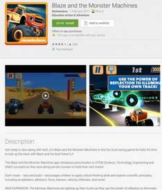 For Android Blaze & Monster Machine Currently Free - Usually 50p