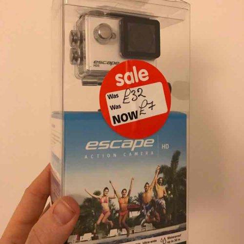 Escape HD5 action camera. £7 instore @ Asda - Hull Kingswood