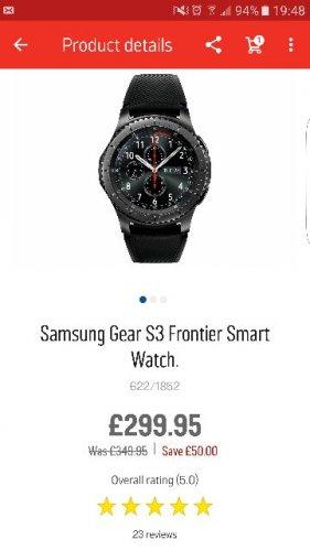 samsung s3 frontier £299.95 @ Argos