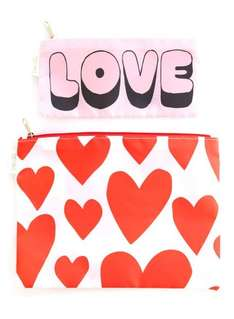 Love Heart Carryall Duo £2.40 (was £9.00) with code EXTRA20 @ Miss Selfridge - Free Delivery to Store