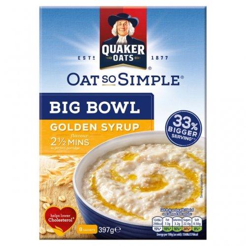 397g - (8 sachets)  Big bowl oat so simple golden syrup flavour (33% bigger serving than normal size sachet) £1 at poundland