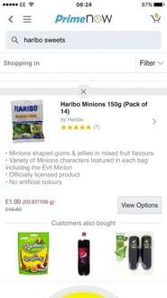 2.1kg Haribo Minions for £1 on Amazon Prime Now App (£20 minimum spend)