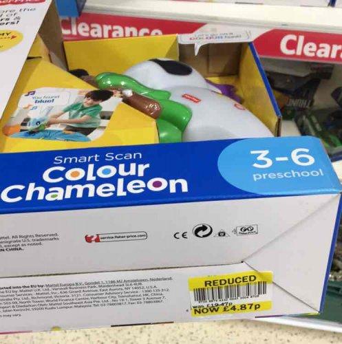 Fisher Price Smart Scan  Colour Chameleon £4.87 @ Tesco instore
