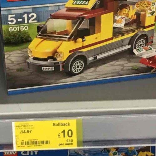 Lego City Pizza Van 60150 £10 instore @ Asda Minworth