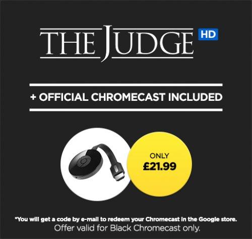 Chromecast 2 + The Judge HD £21.99 @ Wuaki