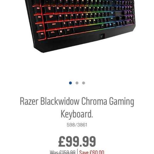 Razer Blackwidow Chroma Mechanical Keyboard £99 at Argos