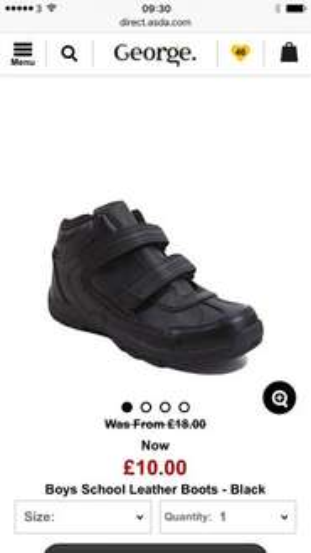 George Asda clothing sale - Batman Trainers £6.00