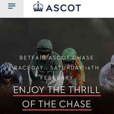 Free pair of Horse racing tickets Betfair Ascot Chase 18/2/17 would cost £56 a pair on the day!!
