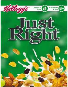 Kellogg's Just Right Cereal (500g) was £3.15 now £2.00 @ Sainsbury's
