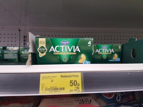Activia fat free yoghurt x4 pack - 50p @ Asda