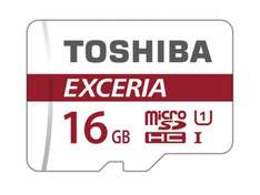 Toshiba EXCERIA M302 16GB Micro SDHC Memory Card With Adapter £4.97 delivered (free delivery) @ ebuyer