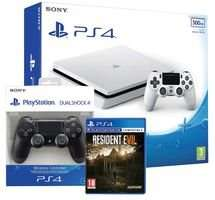 PS4 Slim 500GB Glacier White Console with Resident Evil 7 and additional Dualshock V2 only £264 @cpc