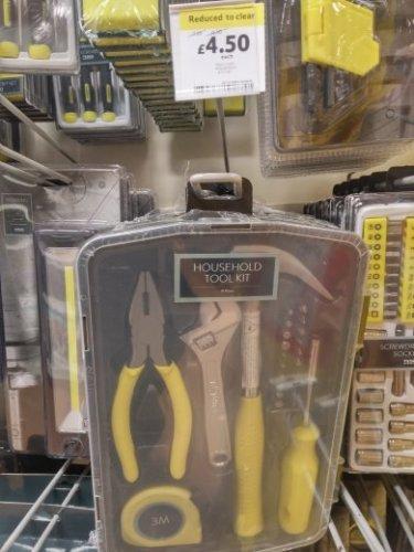 Household tool kit reduced £4.50 instore @ Tesco
