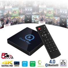 Android 6.0 TV Box S912 Octa Core, 2GB RAM 16GB ROM, 5G/2.4G Dual WIFI, 1000M Ethernet, Bluetooth 4.0, H.265 Decoding - £39.99 @ Sold by Greatever and Fulfilled by Amazon